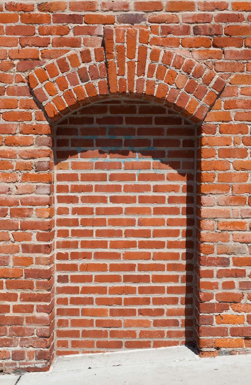 煉瓦造り無用窓。