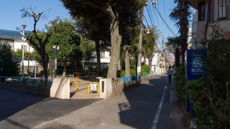 公園のある通り