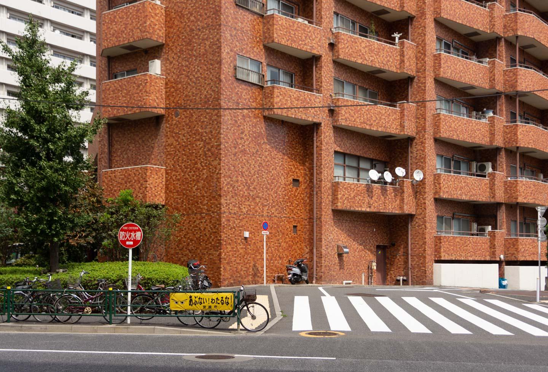 バルコニーのあるマンション