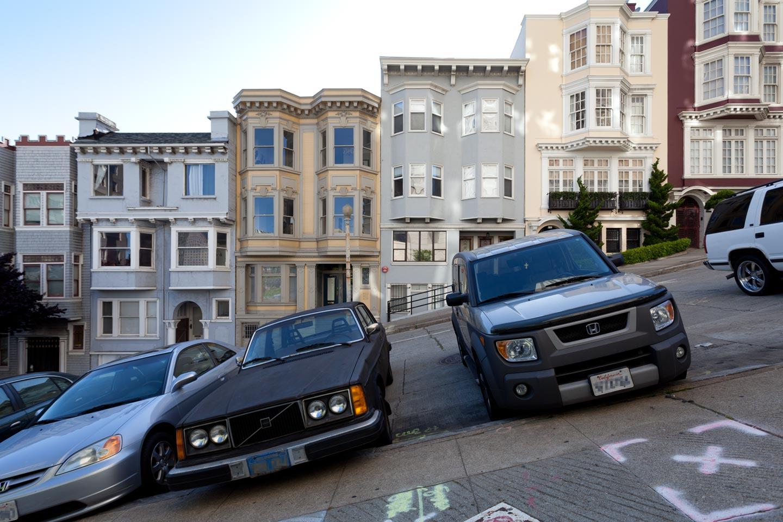 San Francisco は坂の多い街