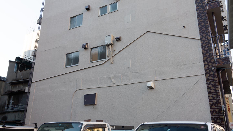 トマソン線が残る壁面